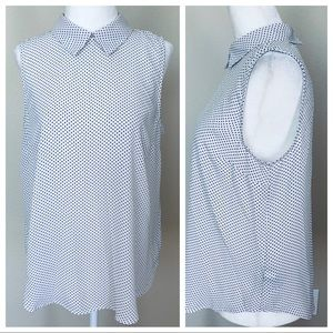 Tops - NEW without TAGs: Polka Dot Sleeveless BLOUSE Top